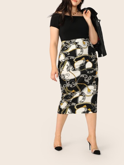 25296b1a9 Plus Size Skirts, Shop Plus Size Skirts Online | SHEIN UK