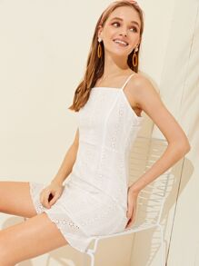Eyelet Embroidery  Cami Dress