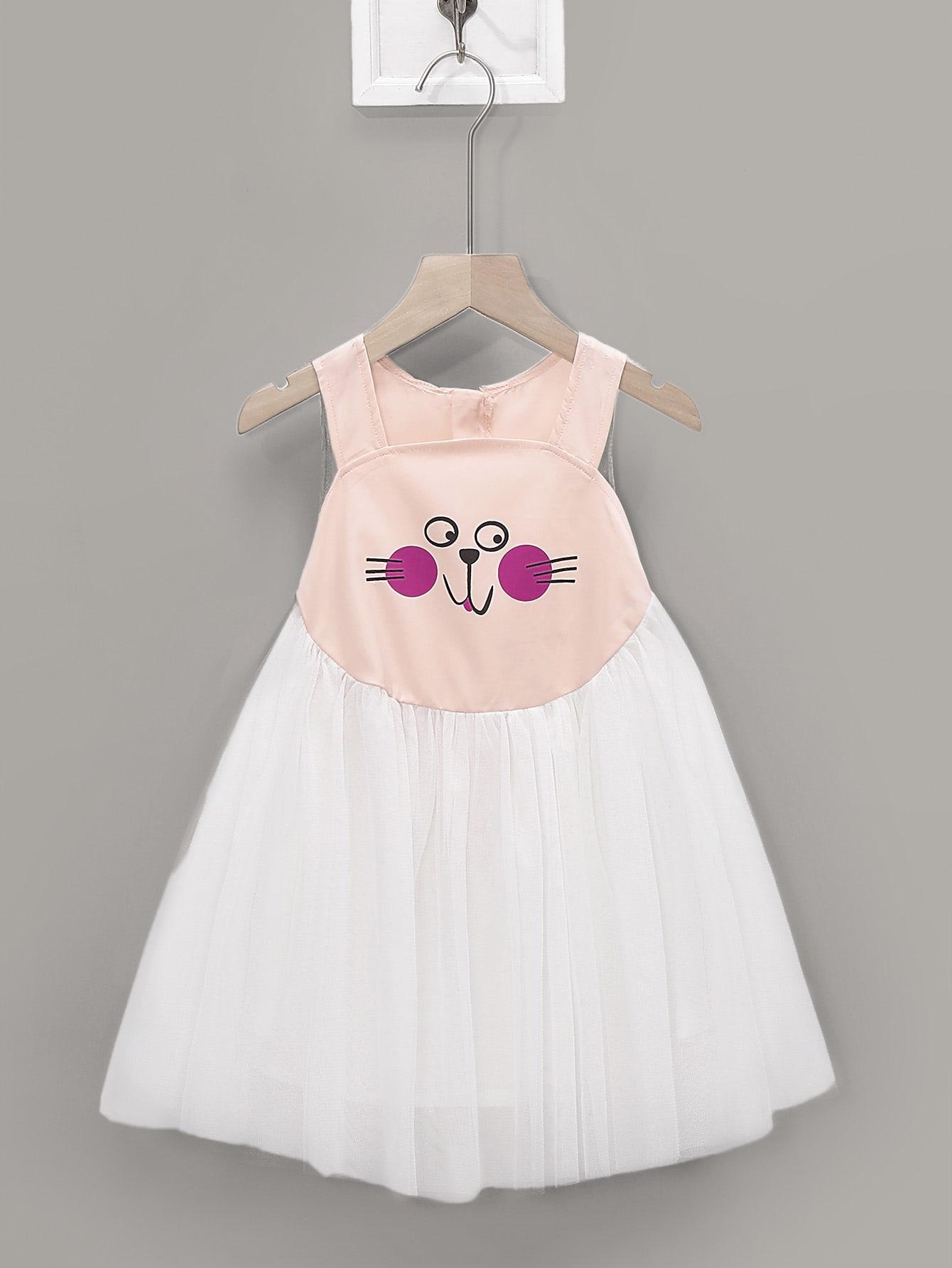 1d946edd6d Toddler Girls Cartoon Tutu Tank Dress