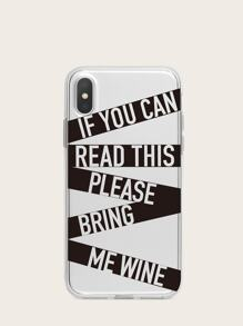 Letter Pattern iPhone Case