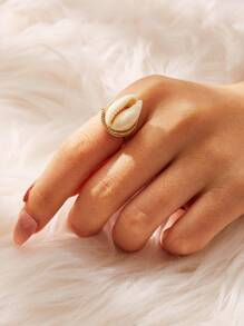 Shell Decor Ring 1pc