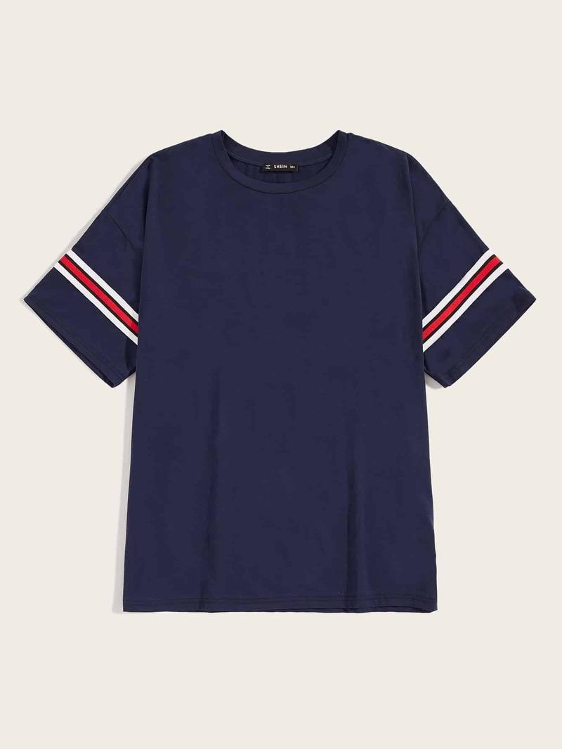 Cinta De Camiseta Con Rayas Lateral Hombres Ifgvby6Y7