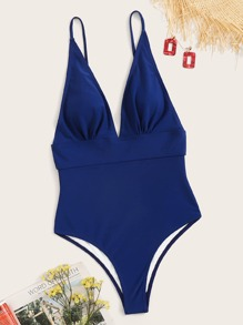 Ruched Open Back One Piece Swimwear