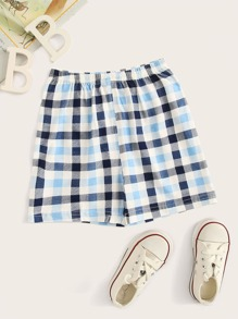 Toddler Boys Plaid Sleep Shorts