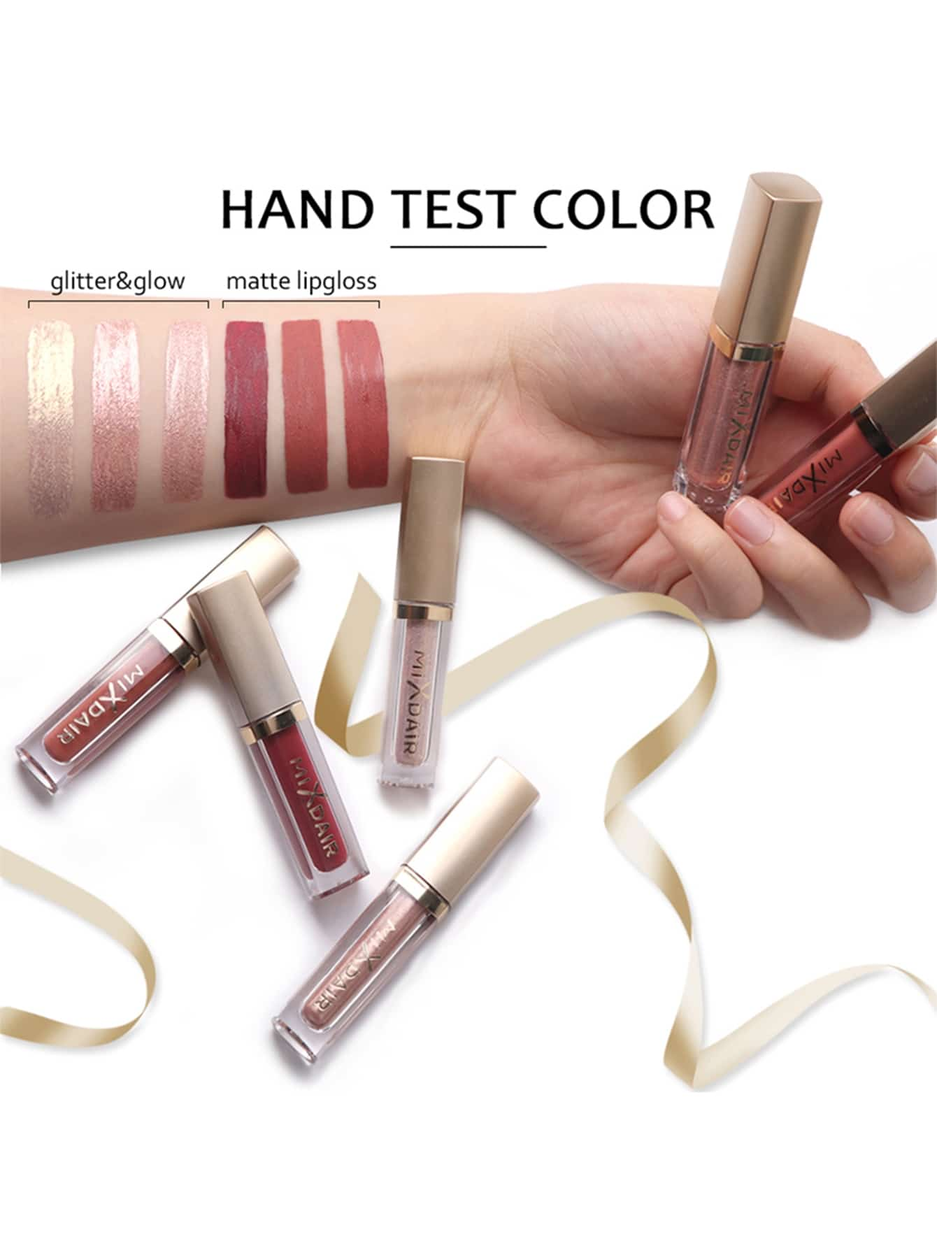 faed236ec2 Matte & Glitter Lip Gloss Set 6pack | SHEIN