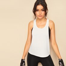Low Side Ribbed Tank Top