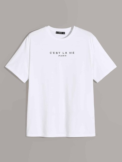 Guys Slogan Graphic Tee