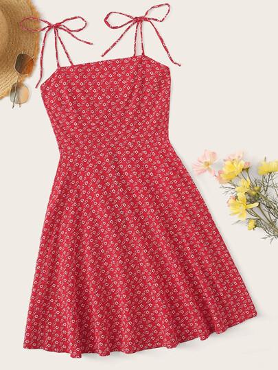 751e14e4c Ditsy Floral Zip Back Cami Dress
