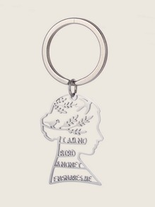 Letter & Bird Decor Figure Keychain