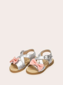 Baby Bow Tie & Criss Cross Flat Sandals