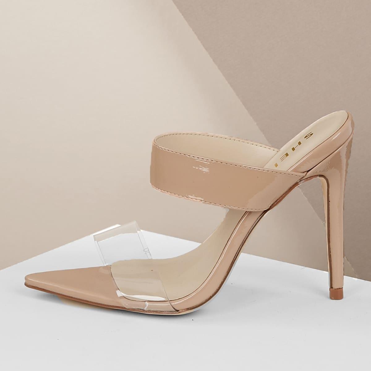 Туфли на каблуках с открытым задником от SHEIN