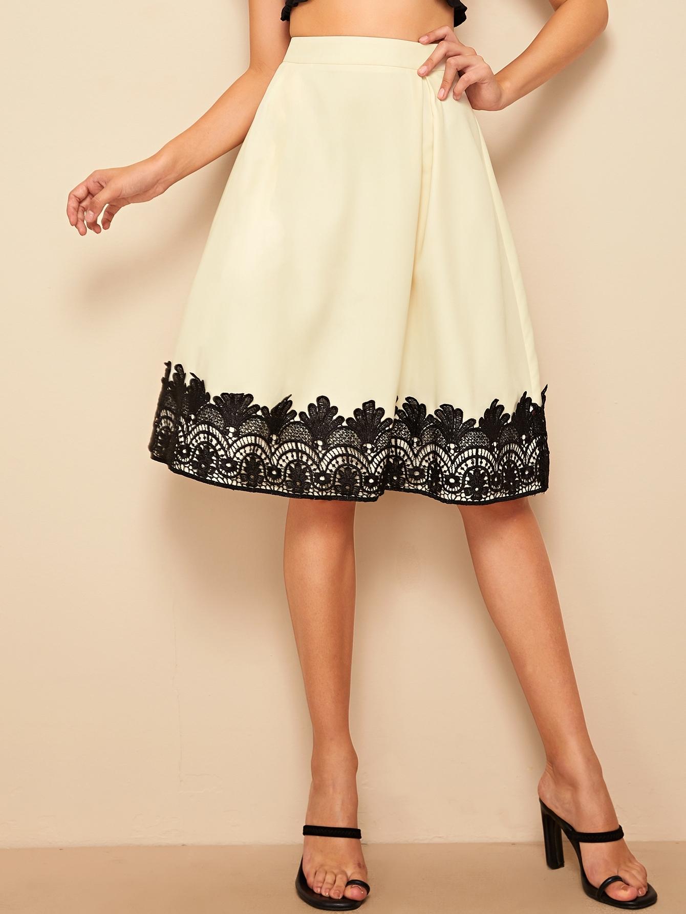 50s юбка с вышивкой и высокой талией thumbnail