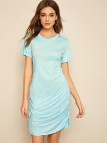 Ruched Side T-shirt Dress