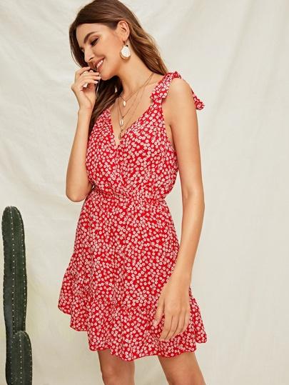 d73a1851dcc Kleid mit Raffung und Blumen Msuter
