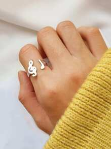 Music Note Design Ring 1pc