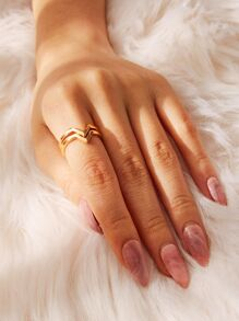 V-shaped Ring 2pcs
