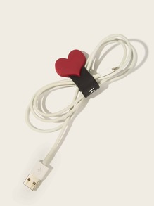 Heart Decor Data Cable Storage Buckle