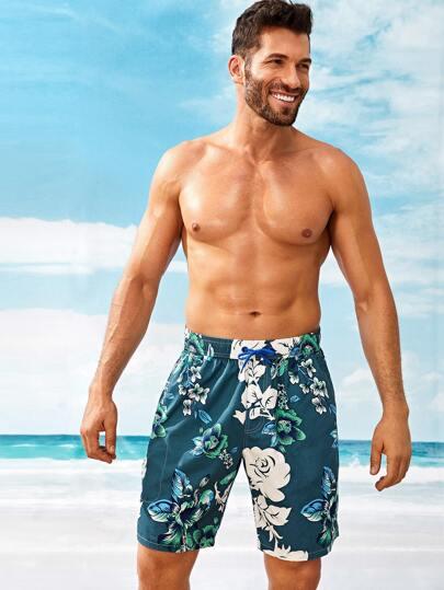 adfd00bfe Shorts de hombres con estampado floral