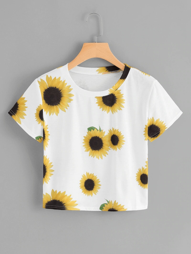 Plus Sunflower Print Tee