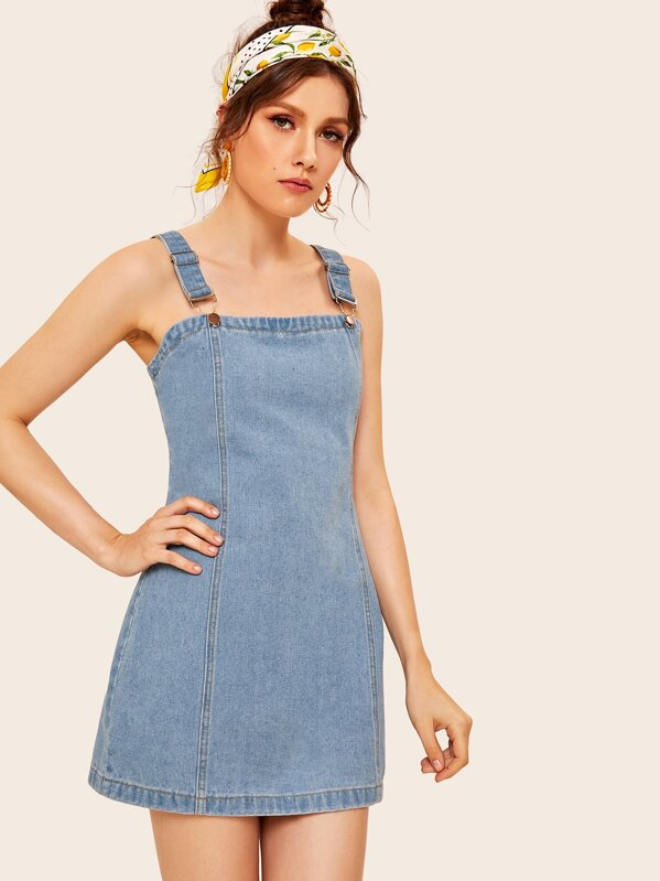 6e27631276f Stitch Detail Zip-back Denim Overall Dress