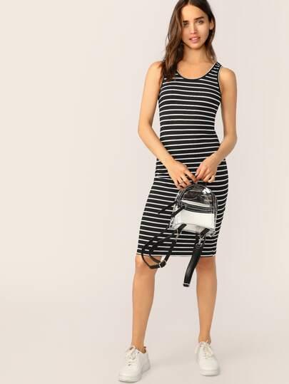 47d1614216f6a1 Tank Kleid mit Streifen