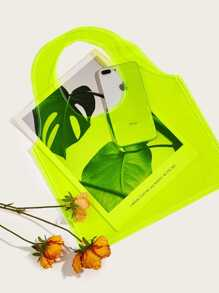 Neon Lime Clear Tote Bag