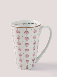 Heart Overlay Print Water Cup