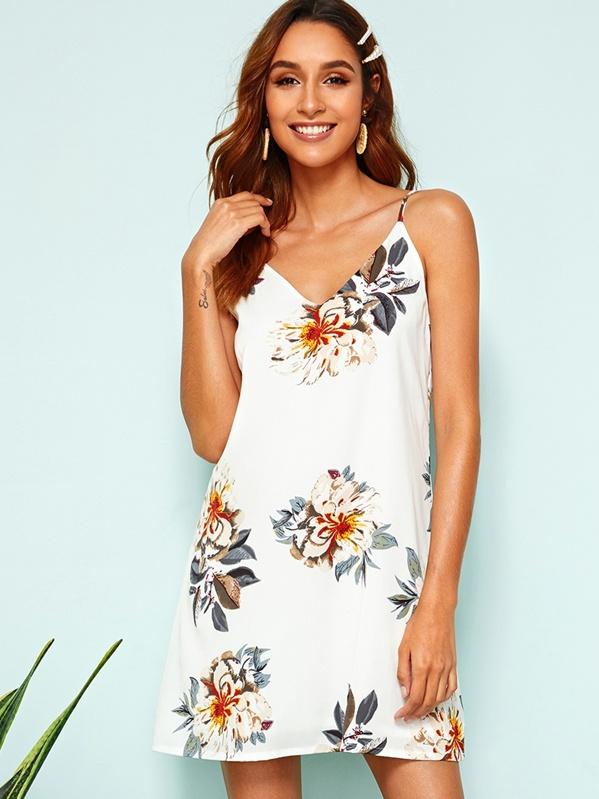 1c963c4d215e Floral Print Slip Dress | SHEIN
