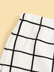 78ff9892a4 Elastic Waist Grid Bodycon Skirt | SHEIN UK