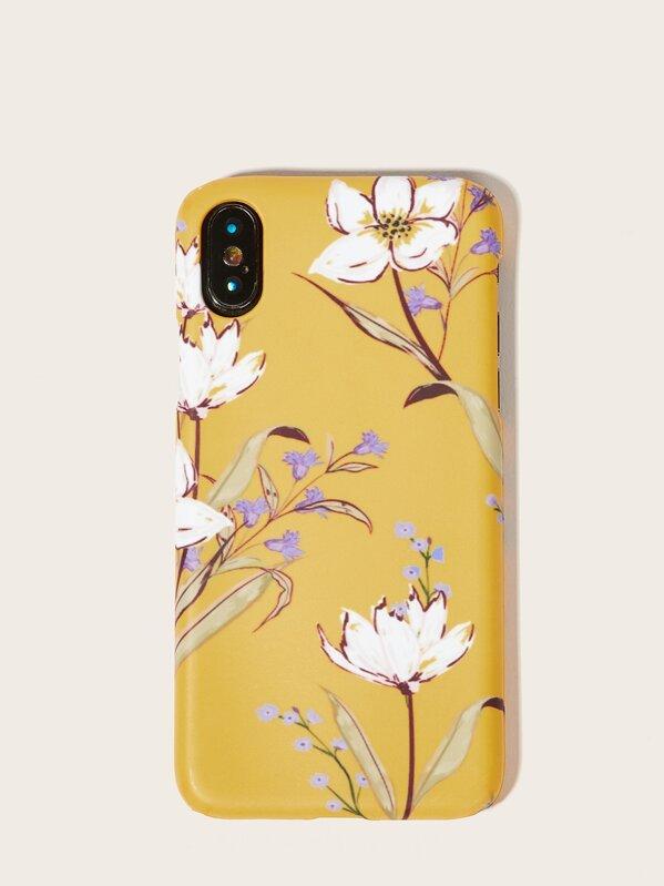 a268470001 Floral iPhone Case -SHEIN(SHEINSIDE)