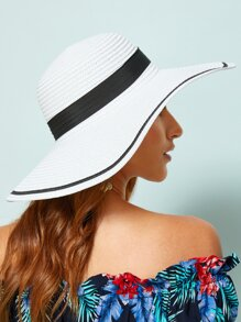 Two Tone Floppy Hat