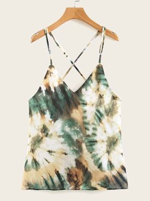 Tie Dye Criss-cross Cami Top