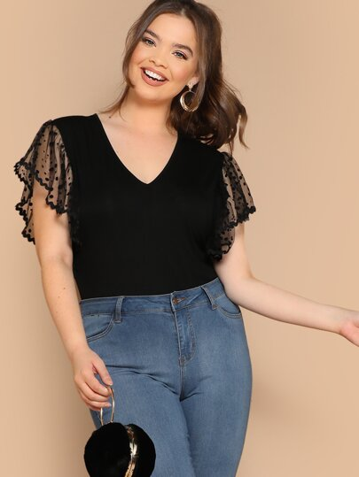 6235f0ca0bb Plus Size Bodysuits, Shop Plus Size Bodysuits Online | SHEIN IN