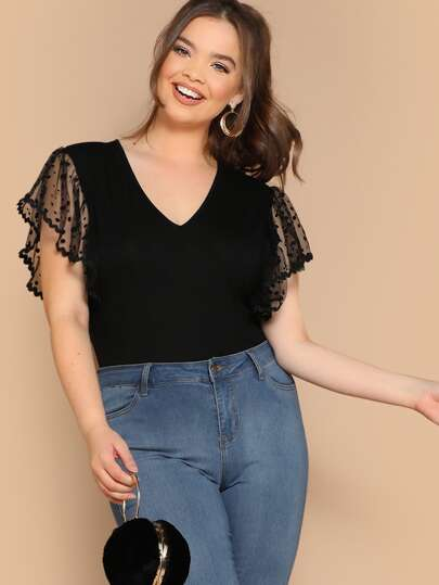 7e24011e9e74 Plus Size Bodysuits, Shop Plus Size Bodysuits Online | SHEIN IN