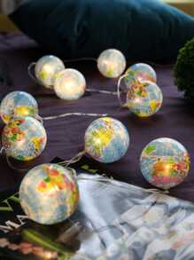 10pcs Globe Bulb String Light