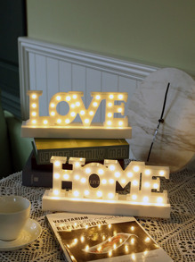 Letter Design Light Night 1pc