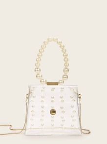 Pearl Detail Chain Bag