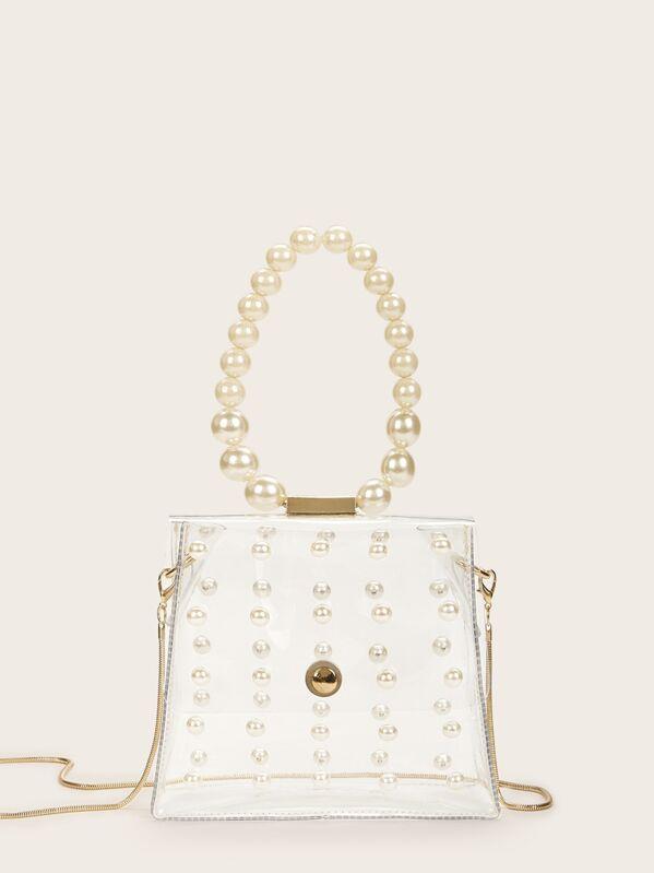 3cc6341a31 Pearl Detail Chain Bag