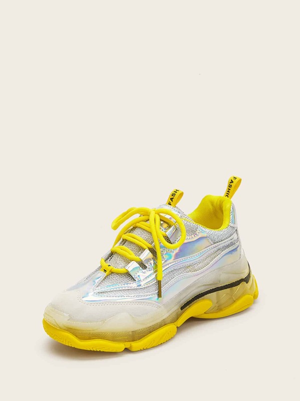 5d09a6952b Ombre Lace-up Chunky Sneakers | SHEIN IN