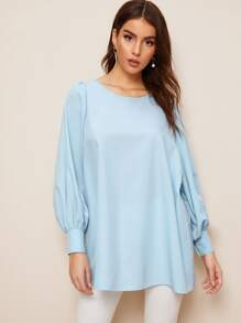 Plain Bishop Sleeve Blouse