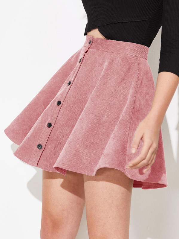 d0f229fa65 Cheap Button Up Flare Corduroy Skirt for sale Australia | SHEIN