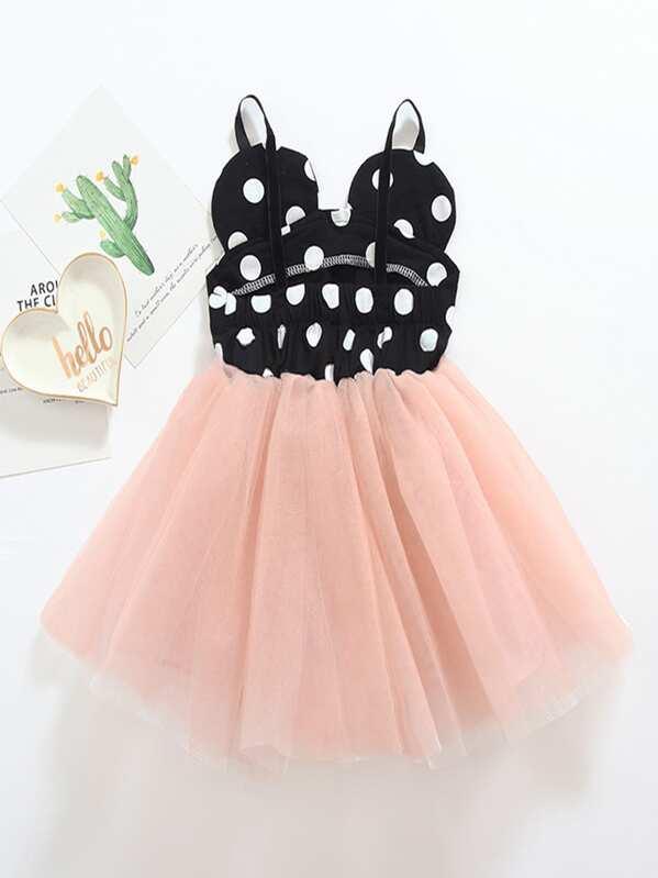 a141c70666 Toddler Girls Polka Dot Tutu Cami Dress | SHEIN IN