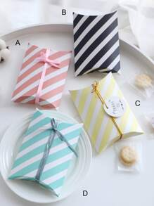 Striped Pattern Pillow Box 10pcs
