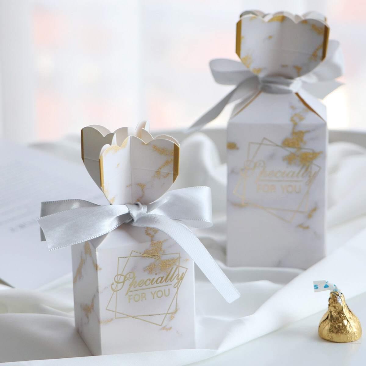 Marmor Muster Süßigkeiten Box 10pcs