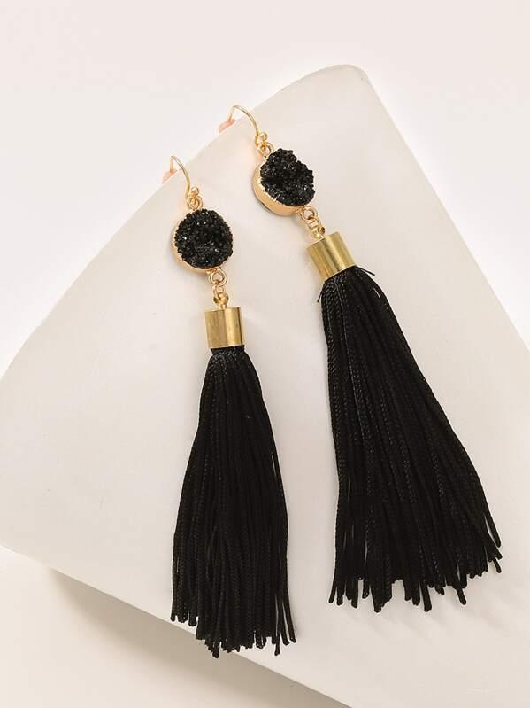 6b8ae5a368 Tassel Drop Earrings 1pair | SHEIN