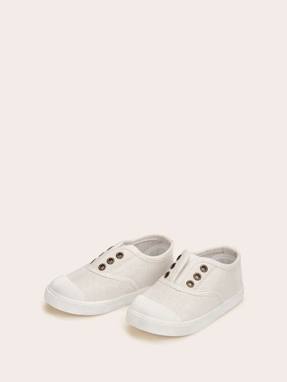 Baby Plain Canvas Sneakers
