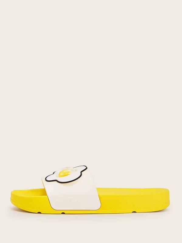 65b9dae780a77 Pantoufles plates avec motif canard