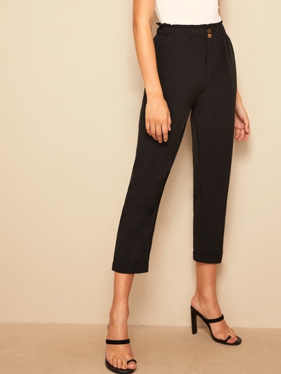 ba2bb654 Women's Trousers, Shop Wide Leg, Hight Waist & More | SHEIN UK