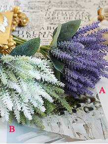 Artificial Lavender Bunch With 8pcs Branch 1pc