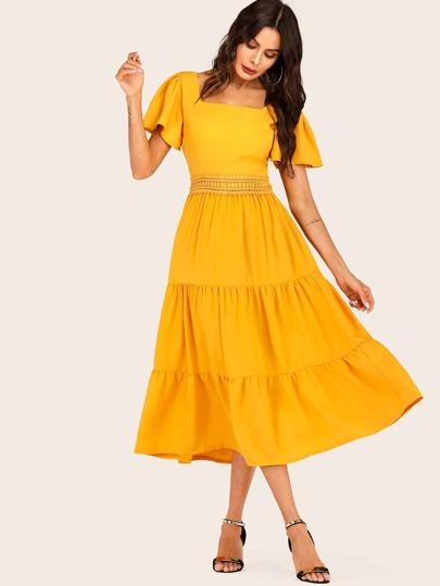 C und a kleid gelb